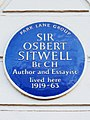 Sir Osbert Sitwell Bt CH Author and Essayist lived here 1919-63.jpg