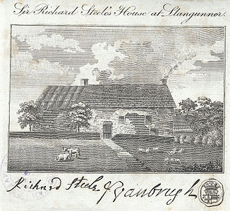 Richard Steele - Sir Richard Steele's House at Llangunnor near Carmarthen, 1797