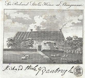 Richard Steele - Sir Richard Steele's House at Llangunnor near Carmarthen, 1797