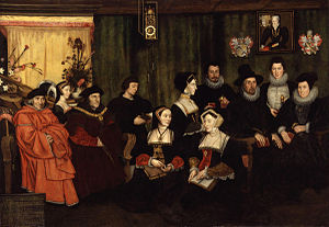Rowland Lockey - Sir Thomas More and Descendants, oil on canvas, c. 1593