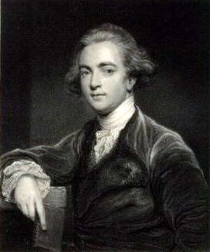 William Jones (philologist) - A steel engraving of Sir William Jones, after a painting by Sir Joshua Reynolds
