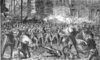 Sixth Maryland Regiment firing on the rioters