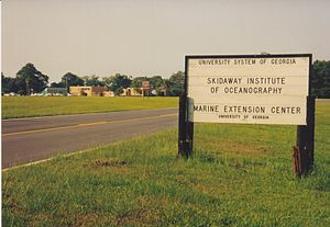 Skidaway Institute of Oceanography - Main entrance to SkIO