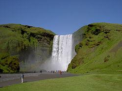 The astonishing Skogafoss Waterfall