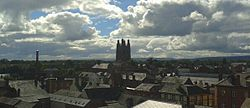 Skyline of Wrexham town centre.jpg