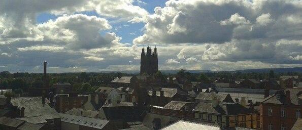 Skyline of Wrexham town centre