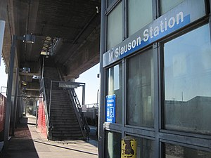 Slauson station (Blue Line) - An entrance to the elevated Slauson Station