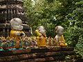 Small statues of Monks in Ayutthaya.jpg