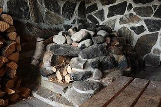 Finnish sauna - Interior of a smoke sauna in Utsjoki, Finland