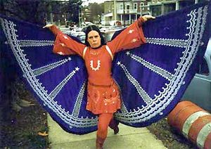 Suzanne Muldowney - Muldowney in her handmade Underdog costume