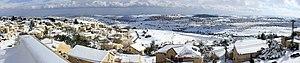 Snow in Neve Daniel, - December 2013.jpg