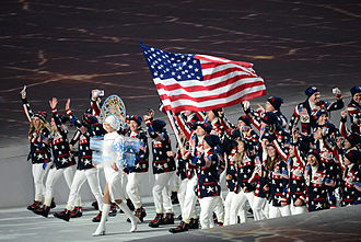 United States at the 2014 Winter Olympics - The United States team entering during the opening ceremony.