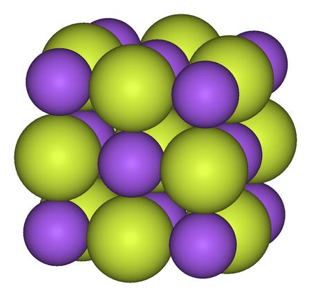 البنية المكعّبة لفلوريد الصوديوم
