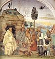 Sodoma - Life of St Benedict, Scene 7 - Benedict Instructs the Peasants - WGA21570.jpg