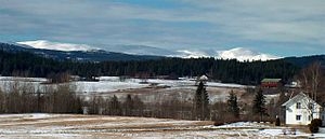 Eggedal - Norefjell mountain range seen from Sokna