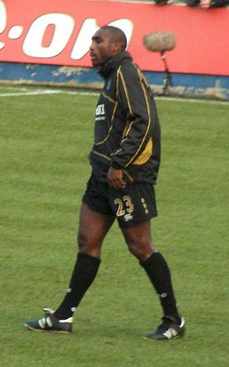 Sol Campbell - Campbell before a Portsmouth match in 2008.