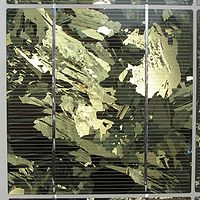 Une cellule photovoltaïque polycristalline