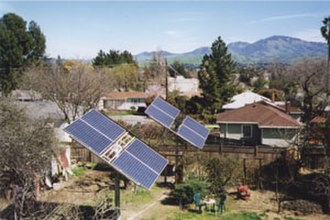 Active solar - Solar trackers may be driven by active or passive solar technology