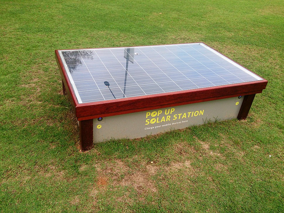 Solar panel for charging phone