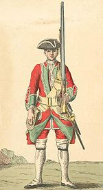 Soldier of the 36th Foot in 1742