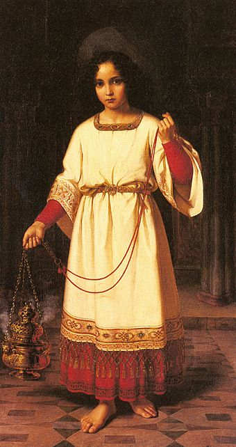 The Acolyte by Abraham Solomon, 1842 Solomon Abraham The Acolyte.jpg