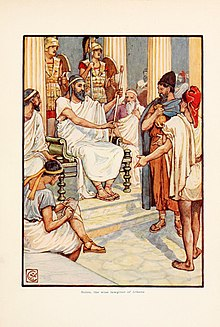 Solone, il saggio di Atene. Illustrazione tratta da The story of Greece: told to boys and girls (191-?).