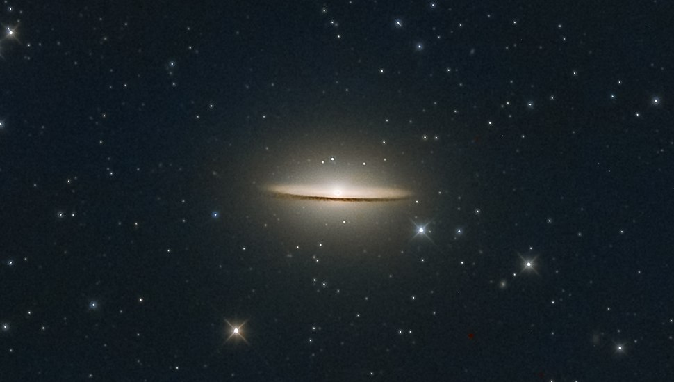 Sombrero Galaxy (also known as Messier Object 104, M104 or NGC 4594) (cropped)