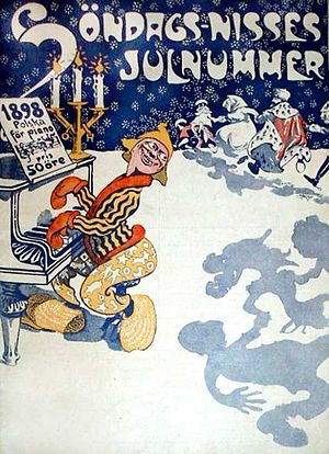 Cover of the Söndags-Nisse 1898 Christmas issu...