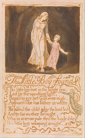 The Little Boy Found - Image: Songs of Innocence, copy G, 1789 (Yale Center for British Art) object 21 The Little Boy Found