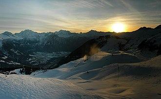 Riederalp - Above Riederalp in winter