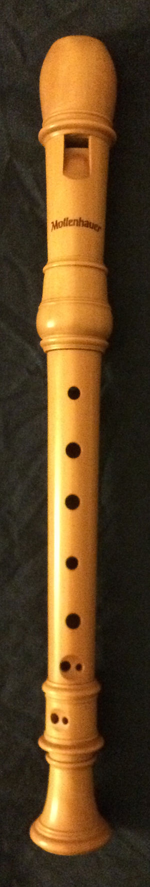 "Soprano recorder - A three-part soprano recorder in castello or zapatero ""boxwood""."
