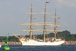 Die Sørlandet beim Tall Ships Race in Swinemünde (2007)