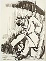 Sound Asleep in the Dick Sheppard Vault, St Martin's-in-the-Fields (1941) (Art.IWM ART LD 813).jpg