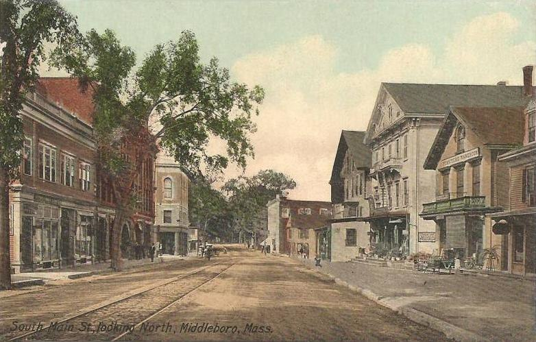 South Main Street, Looking North, Middleborough, MA
