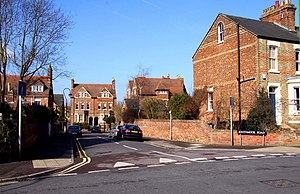 Kingston Road, Oxford - The junction of Southmoor Road on Kingston Road.