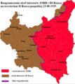 Soviet and German sphere of influence in the Second Polish Republic according to Molotov–Ribbentrop Pact 1939.PNG