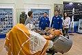 Soyuz MS-10 crew during a tour of the Baikonur Cosmodrome Museum (2).jpg