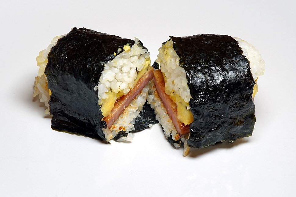 Spam and egg musubi