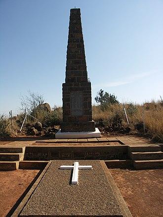 Spion Kop Battlefield Memorials - Imperial Light Infantry memorial on Spion Kop