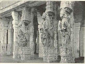 Thanjavur Nayak kingdom - Image: Srirangam 1909 stonecarving
