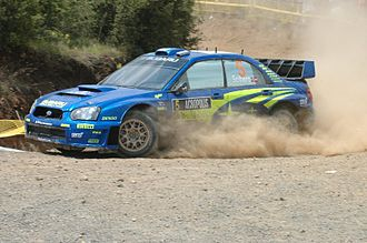 Acropolis Rally - Petter Solberg with a Subaru Impreza WRC05 at the 2005 event