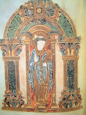 Swithun - Swithun, Benedictional of St. Æthelwold, Winchester, 10th century, British Library