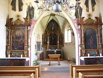 Münchwilen, Thurgau - Image: St Margareten Kapelle Innen