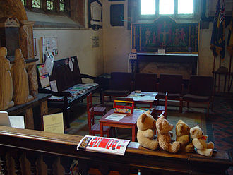 Religion and children - The Children and Parents area in the Priory Church of St Mary, Totnes, Devon, UK