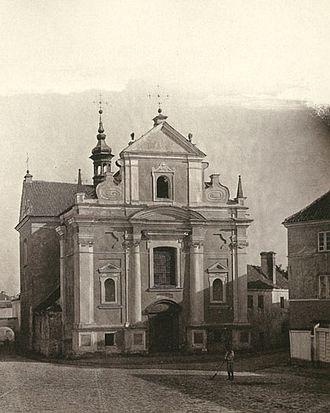 Lithuanian press ban - Image: St Joseph Church before demolition