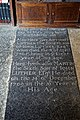 St Mary's Church, Stapleford Tawney, Essex, England ~ Luther floor ledger slab 01.jpg