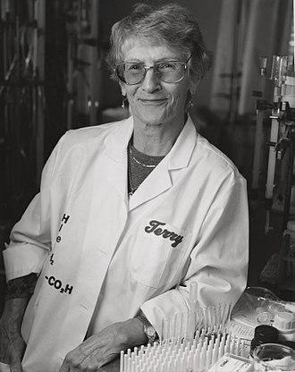 Thressa Stadtman - Thressa Stadtman in her lab, ca. 1970s