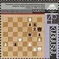 Stamp of Armenia - 1996 - Colnect 196140 - match between Gary Kasparov and Anatoly Karpov.jpeg