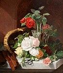 Stannard, Eloise Harriet - A Still Life of Flowers in a Glass Epergne ... - 1889.jpg