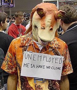 Star Wars Celebration II - me with an unemployed Jar Jar (4878852516).jpg